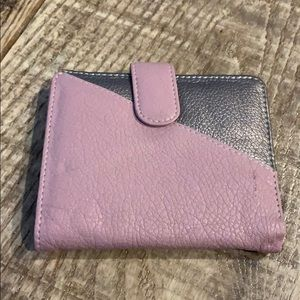 Handbags - *3 for $20*/Soft leather pink and gray wallet